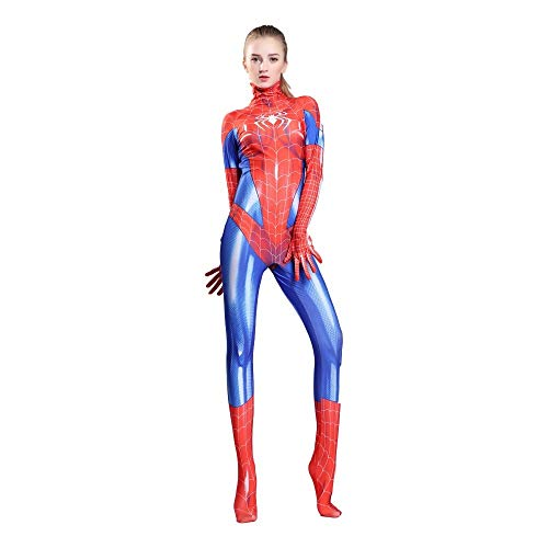 XINFUKL Weibliche Spider-Man Kostüm Gwen Strumpfhosen Cosplay Halloween Theme Party Movie Requisiten,Child-M