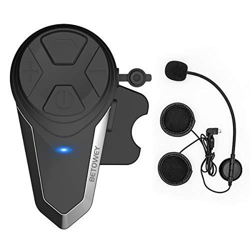 Intercomunicador Casco Moto, ENCHICAS BT-S3 Bluetooth Auriculares Manos Libres para Casco Moto...