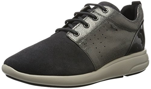 Geox ophira a, scarpe da ginnastica basse donna, grigio (dk grey), 36 eu