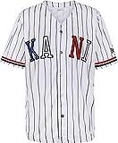 Karl Kani College Baseball Kurzarmhemd wht/blk/blu/red