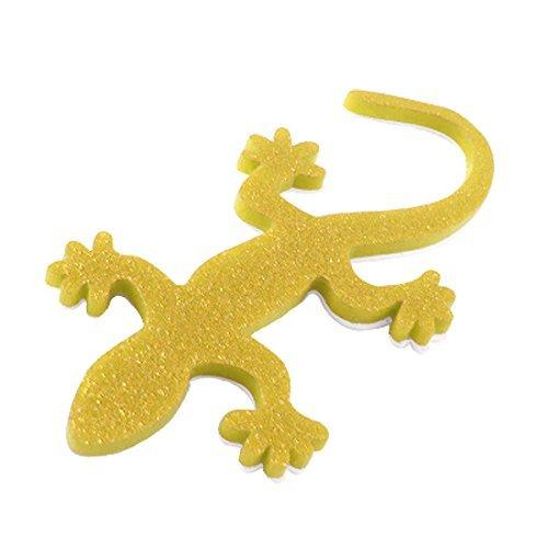 Gold-Ton 3D Gecko-Haus-Eidechse-Badge Glittery Aufkleber für Auto -