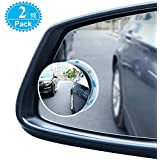 Blind Spot Mirrors For Cars - BeskooHome Waterproof 360°Rotatable Convex Rear View Mirror For Universal Cars -2 Pack
