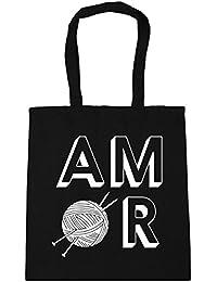 HippoWarehouse Amor Knitting Bolso de Playa Bolsa Compra Con Asas para gimnasio 42cm x 38cm 10