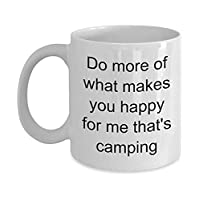 Happiness is Camping Mug Gift for Happy I Love Camping