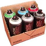 Montana BLACK Sprühdosen POCKET CANS 150ml Vorratspack 6 verschiedene Farben
