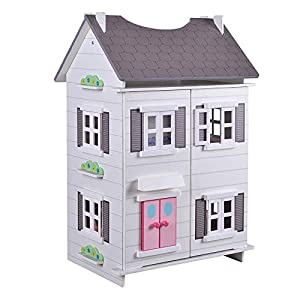 Play & Learn - Casita de muñecas madera blanca (ColorBaby 85294)