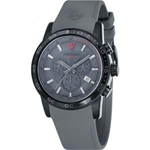 Swiss Eagle - SE-9057-08 - Terrain - Montre Homme - Quartz Chronographe - Cadran Noir - Bracelet Silicone Gris