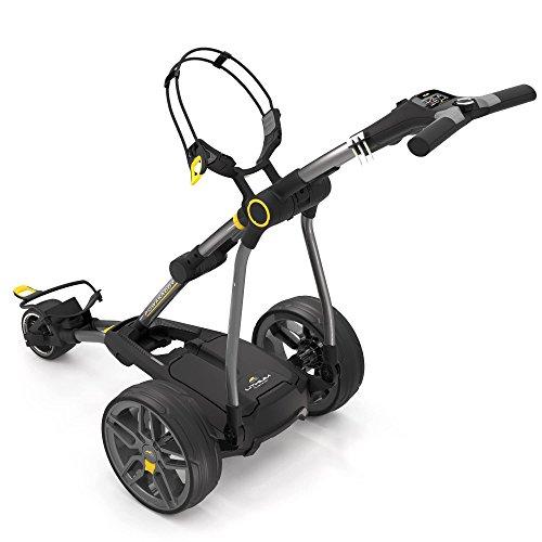 Powakaddy C2 Compact Chariot de golf électrique avec batterie de lithium 18/27 trous Gris foncé métallisé