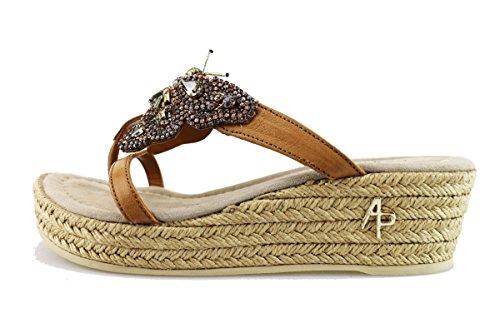 APEPAZZA sandali donna cuoio pelle AG303 (36 EU)