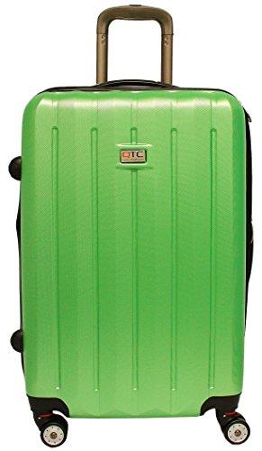 Exkl. Hartschalen Reisekoffer M Reise Koffer Trolley Hartschale Cabine Hard sided Travelcase Travel case luggage suitcase (M (Handgepäck), Grün)