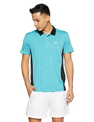 Ajile By Pantaloons Men's Plain Slim Fit T-Shirt (110039997020_Aqua_XXL)