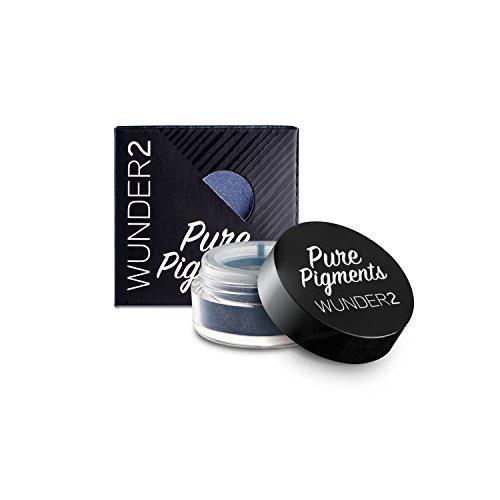 Wunder2 Pure Pigments Ombretto Colorato in Polvere Altamente Pigmentato (Tono Midnight Blue)