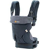 ERGObaby Baby Carrier for Toddler, 360 Dusty Blue 4-Position Ergonomic Child Carrier and Backpack