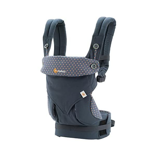 ERGObaby Baby Carrier for Toddler, 360 Dusty Blue 4-Position Ergonomic Child Carrier and Backpack Ergobaby 4 ergonomic wearing positions: front-inward, front-outward, hip and back carry Structured bucket seat keeps baby seated in the anatomically correct frog-leg position Exceptionally comfortable thanks to adjustable, extra-wide waistband to support the lower back;Start with newborn infant insert 0-4 months/7-12lbs, sold separately 1