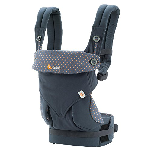 Ergobaby Babytrage Kollektion 360 (5.5 - 15 kg),Blau (Dusty Blue)