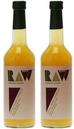 RAW Health La Salud Prima De Manzana Orgánica 500ml De Vinagre De Sidra (Paquete de 2)