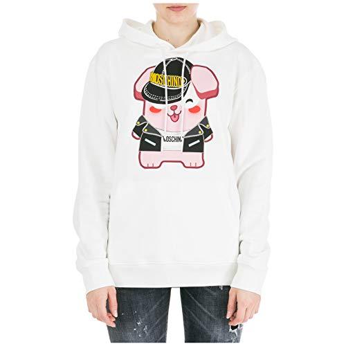 Moschino Damen Kapuzenpullover Lucky Bunny The Sims Bianco M - Lucky-jersey Sweatshirt