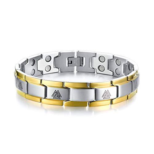 AAJewels Edelstahl magnetische Armbänder für Herren Hematite Magnet Armband, Herren-Link-Kette...