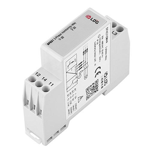 DPA51CM44 3-Phasen Überwachungsrelais, Strom / Spannung Überwachungsrelais Phasenfolge Schutz für Dreiphasiges System, Ohne Neutralleiter, Phasenverlust und Falsche Phasenfolge, 208-480 VAC (3-phasen-motor-spannung)
