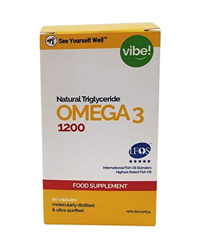 Omega 3 SYW. (90 Cápsulas de 1000 mg). Certificado IFOS. Forma Triglicérido. Altamente concentrado: 400 mg de EPA y 200 mg de DHA. De grado farmacéutico, ultra-refinado y molecularmente destilado.