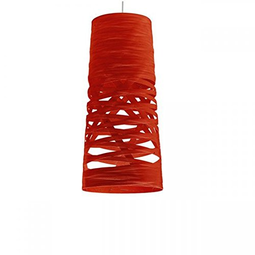 Foscarini Lampe de Suspension Foscarini Tress Mini H 5 m – Rouge