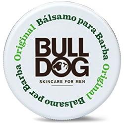 Bulldog Skincare for Men Original - Bálsamo para dar forma a la Barba, cuidado facial masculino con ingredientes naturales, fórmula anti-picores con Aloe Vera, Camelina y Té Verde, formato 75 ml
