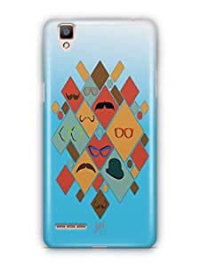 YuBingo Glasses & Moustaches Mobile Case Back Cover for Oppo F1