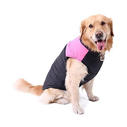 PAWZ Road Pet Clothes For Small Medium and Large Dogs Winter Warm Vest Jacket Easy On/Off Pink 6L 1