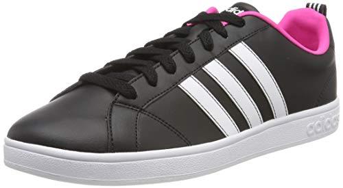 adidas Damen VS Advantage Sneaker, Schwarz (Negbás/Ftwbla/Rosimp 000), 40 2/3 - Vs Advantage Adidas Tennis