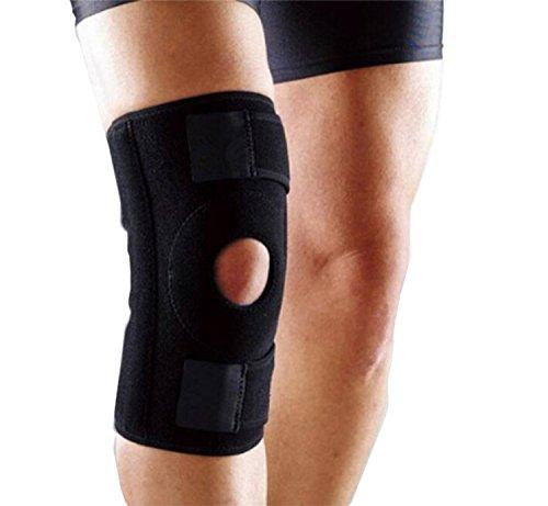 Ysmart rodillera- Kniebandage Meniscos Hilfe bei Verletzungen von Bändern ACL/LCP/LCL/LCM, Arthritis, brechen des Kniebandage Meniskus und mehr Wandern, Laufen, Basketball und Radfahren Rotula schwarz