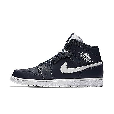 554724 402|Nike Air Jordan 1 Mid Sneaker Dunkelblau|47.5 (Nike Jordan 1 Mid)