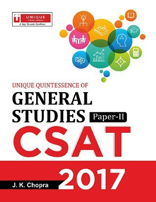 CSAT Paper- II General Studies Book for UPSC Prelims Exam 2017  available at amazon for Rs.450