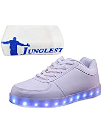 [Present:kleines Handtuch]Weiß 45 Sport Neu High Light JUNGLEST Freizeit Blinkende Sneakers Led Damen Top Farbwechs