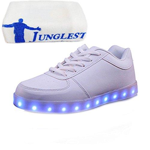 (present: Pequena Toalha) Junglest® 7 Cores De Carregamento Usb Led Brilhante Calçados Esportivos Calçado Desportivo De Alta Sneakers Tênis Superiores Para C23 Conveniências Unissex Esperado