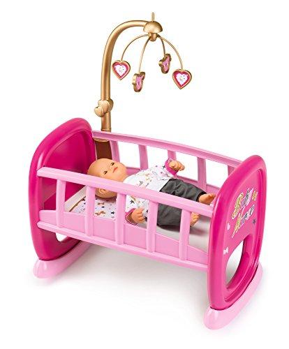 Smoby - 220328 - Baby Nurse - Berceau A Barreaux pour Poupon + 1 Mobile