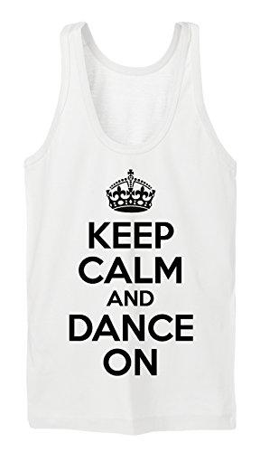 Keep Calm And Dance On Tanktop Girls Bianco-XL
