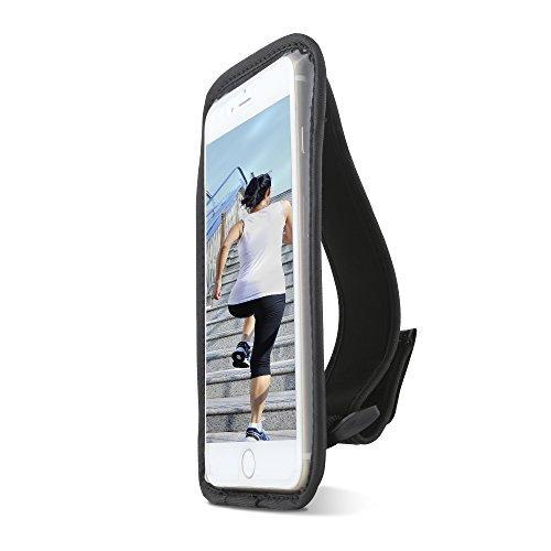 Handheld-Hülle für Sportler von Gear Beast für Apple iPhone X, 6, 6S, 5, SE, Samsung Galaxy S7, S6, S6 Edge Handy-Halterung für Laufen, Joggen, Training, Fitness. Wasserdicht, mit Kartenfach.