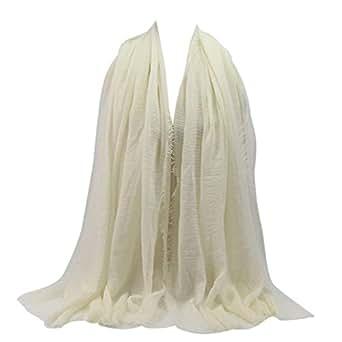 Image indisponible. Image non disponible pour la couleur   Malloom® Hijab  pour l islam Musulman, Islam Muslim Viscose Premium Maxi Crinkle Nuage 211e534b054