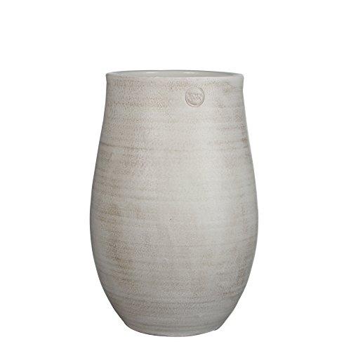 Mica Decorations 141855 Elsie Vase Ronde Blanc - H41xd25cm