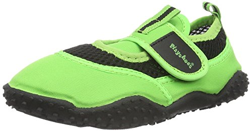 Playshoes Badeschuhe Neonfarben mit höchstem UV-Schutz nach Standard 801 174796, Unisex-Kinder Aqua Schuhe, Grün (grün 29), 24/25 EU