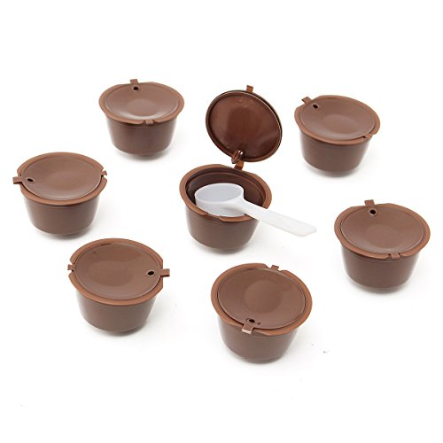 KING DO WAY 7Pcs/Satz Kapsel Kaffeefilter mehrweg kaffee kapseln brauer nach cup filter Kaffee wiederverwendbar Filter (Einheitliche Größentabelle)