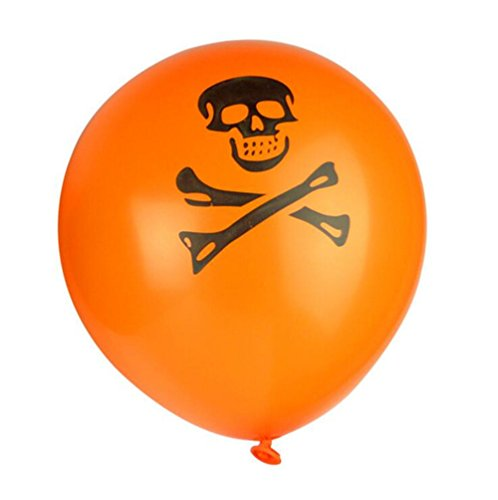 gzq 100 Halloween Ballon Trick or Treat Scary Pirate Fancy Dress Party Fun Dekoration