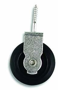 Chapuis VPOV1 Poulie à visser acier zingue 20 kg galet D 40 mm pour Corde D 6 mm