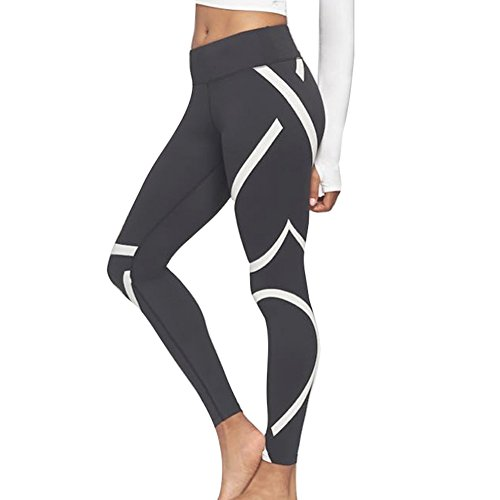 Damen Skinny Hose, Mode Slimming Lange Fitnesshose Stretch Casual Bleistift Hosen Leggings für Yoga Ausbildung Fitnessstudio Schwarz S-XL