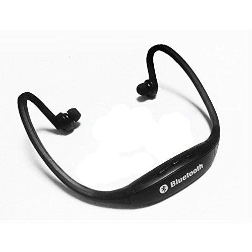 lemumu Bluetooth Headset Kopfhörer Ohrhörer/Headset, Laufen/Fitness, schweißfest, für iPhone/Apple iPhone/Android-Smartphones Schwarz