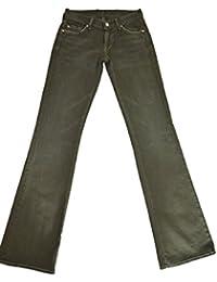 7 For All Mankind - Jeans - Vert Kaki - Stretch FEMME - W24 W25 W26 W30 W31 W32 NEUF