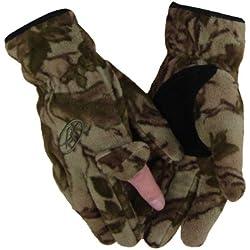 Benisport - Guantes forro polar dedo cremallera talla s, color natural camu