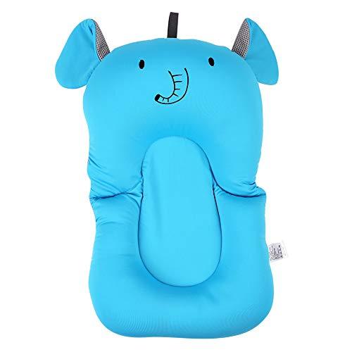 Baby Bad Kissen Neugeborenen Kleinkind Weiche Sitzkissen Badewanne Schwimm Luftkissen Schwimmkissen für Wirbelsäule Schutz(Blauer Elefant) - Elefanten Weichen Kissen