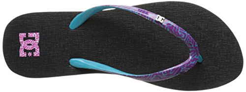 DC Shoes Spray Se, Infradito Donna Nero (Noir (Black/Purple))
