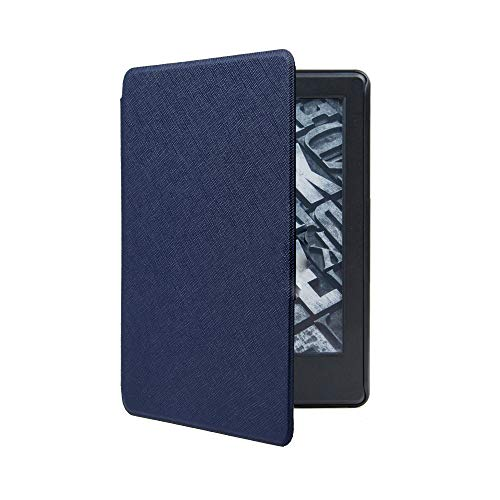 für Amazon Kindle Paperwhite 4 2018 Hülle Cover,Ultra Slim Smart Leather Magnetic Case - MMLC (Navy)